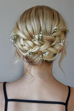 plaited wedding hair style